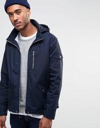 Куртка на молнии с капюшоном Farah Rampton - Темно-синий