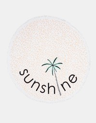 Круглое полотенце с пальмой и принтом Sunshine Lolli - Ацтек