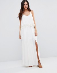 Кружевное платье-халтер Japonica - Белый