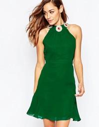 Платье мини VLabel Albany - Зеленый