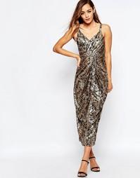 Платье миди с принтом VLabel Kitsch - Принт