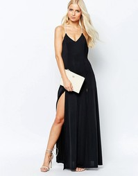 Платье макси с отделкой бисером Girl In Mind Janel - Черный
