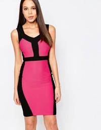 Платье-футляр колор блок Vesper Serena - Розовый