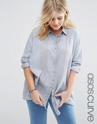 Рубашка в полоску ASOS CURVE