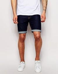 Супероблегающие джинсовые шорты цвета индиго ASOS - Indigo - индиго