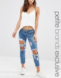 Рваные джинсы скинни Liquor & Poker Petite - Синий