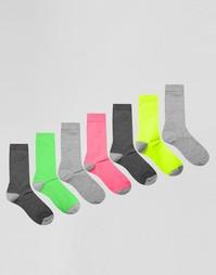 Набор из 7 носков ASOS - Мульти