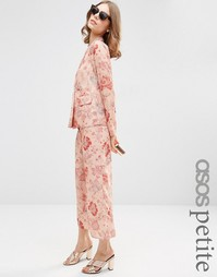 Пижамные брюки с цветочным принтом ASOS PETITE
