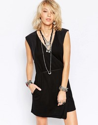 Платье с запахом Free People Lindsay - Черный