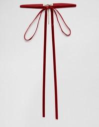 Бархатное ожерелье-чокер с бантом ограниченной серии - Красный Asos