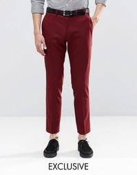 Зауженные стретчевые брюки Only & Sons - Burgundy