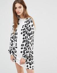 Платье с леопардовым принтом Diesel - Белый