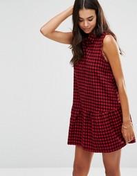 Клетчатое платье с заниженной талией Unique 21 - Красный в клеточку