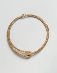 Металлическое ожерелье-чокер с застежкой Missguided - Золотой