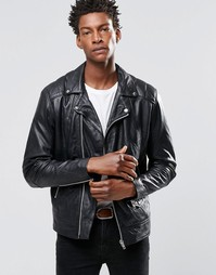 Кожаная байкерская куртка Religion Cutter - Черный