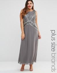 Платье макси размера плюс Junarose Amaly - Pewter