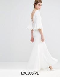 Свадебное платье макси с расклешенными рукавами Jarlo - Слоновая кость