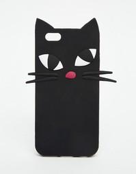 Чехол для iPhone 6 с котом Lulu Guinness - Черный