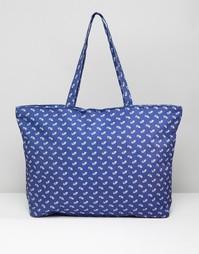 Дорожная сумка с принтом пейсли 7X - Синий