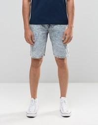Мраморные джинсовые шорты Bellfield - Синий