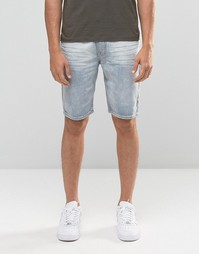 Выбеленные джинсовые шорты Bellfield - Синий
