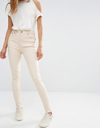Облегающие джинсы с завышенной талией Liquor & Poker - Экрю