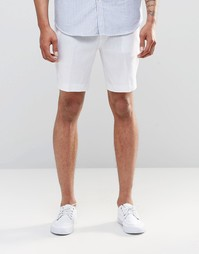 Белые льняные шорты зауженного кроя ASOS - Белый