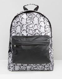 Рюкзак с принтом змеиной кожи 7X