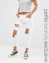Рваные джинсы скинни Liquor & Poker Petite - Белый
