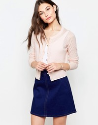 Кардиган на пуговицах спереди Yumi - Нежно-розовый