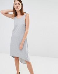 Трикотажное пляжное платье без рукавов Selected Ana - Серый