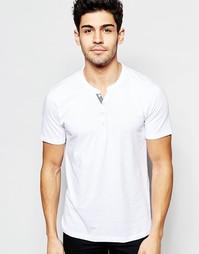 Винтажная футболка из хлопка пима Selected Homme - Снежно-белый