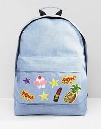 Рюкзак с нашивками 7X - Синий
