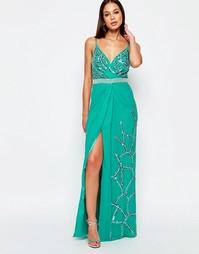 Платье макси с разрезом Virgos Lounge Michelle - Синий