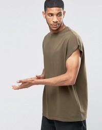 Oversize-футболка из плотного трикотажа цвета хаки ASOS - Battlefield