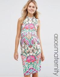 Платье-футляр с цветочным принтом для беременных ASOS Maternity