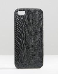 Чехол для Iphone 6 с имитацией змеиной кожи Missguided - Черный