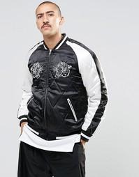 Черная куртка-пилот с вышивкой тигра ASOS - Черный