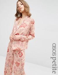Пижамная блузка с цветочным принтом ASOS PETITE
