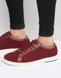 Замшевые кроссовки Ted Baker Owenn - Красный