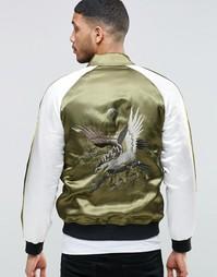 Куртка-пилот цвета хаки с вышивкой орла ASOS - Хаки