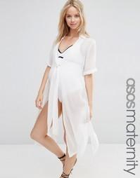 Пляжная рубашка для беременных с завязкой спереди ASOS Maternity