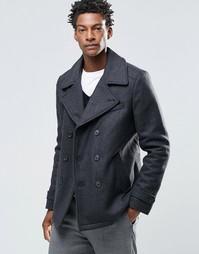 Пальто-бушлат из смешанной шерсти Selected Merser - Серый