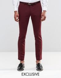 Супероблегающие брюки из хлопкового атласа Noose & Monkey - Сливовый