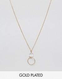 Позолоченное ожерелье Nylon - С золотым покрытием