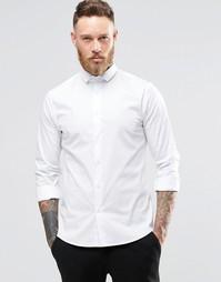 Зауженная стретчевая рубашка со срезанным воротником Noose & Monkey