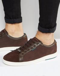 Замшевые кроссовки Ted Baker Owenn - Коричневый