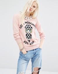 Джемпер с кашемиром Love Moschino - Розовый