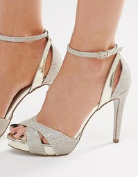 Золотистые сандалии металлик на каблуке Carvela Gifted - Золотой