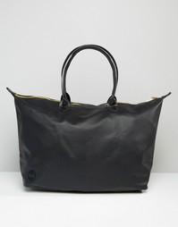 Дорожная сумка из искусственной кожи с мятым эффектом Mi‑Pac - Черный